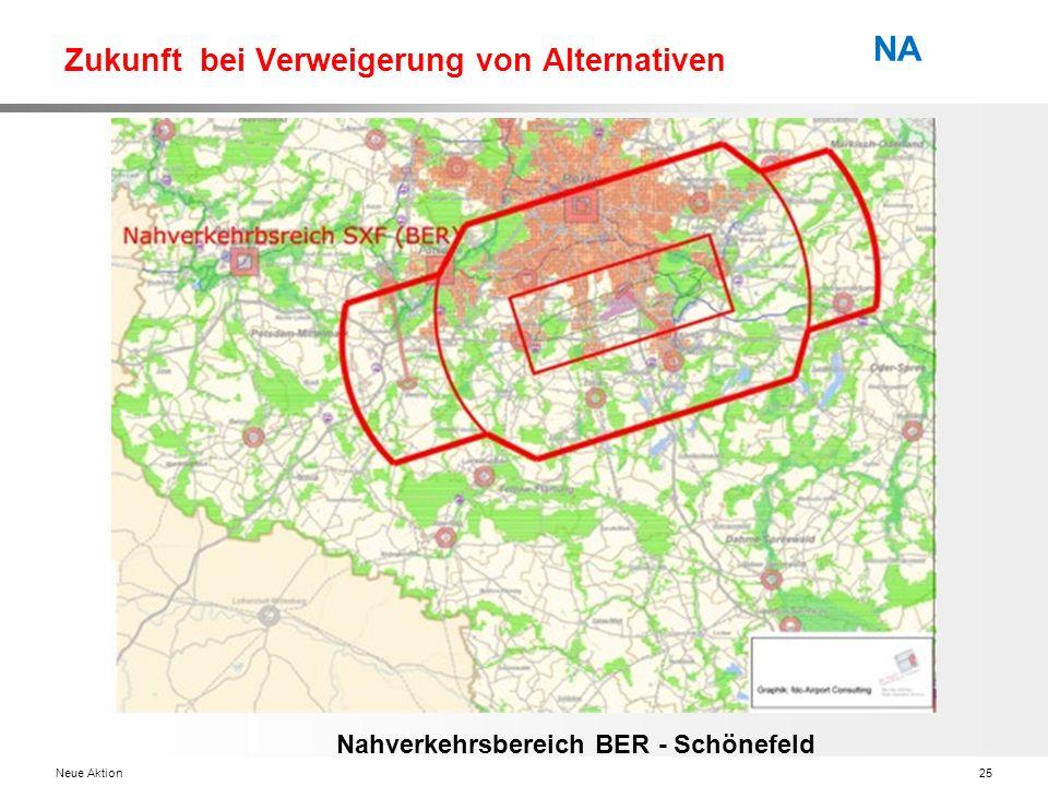 Neue Aktion25 NA Zukunft bei Verweigerung von Alternativen Nahverkehrsbereich BER - Schönefeld