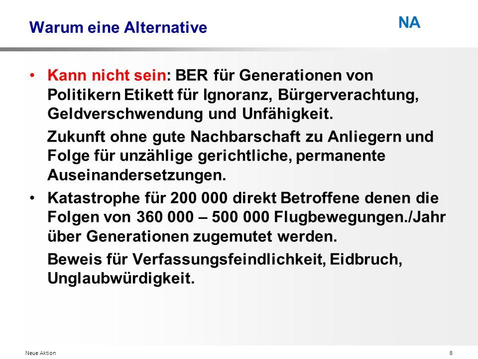 Neue Aktion6 NA Warum eine Alternative Kann nicht sein: BER für Generationen von Politikern Etikett für Ignoranz, Bürgerverachtung, Geldverschwendung und Unfähigkeit.