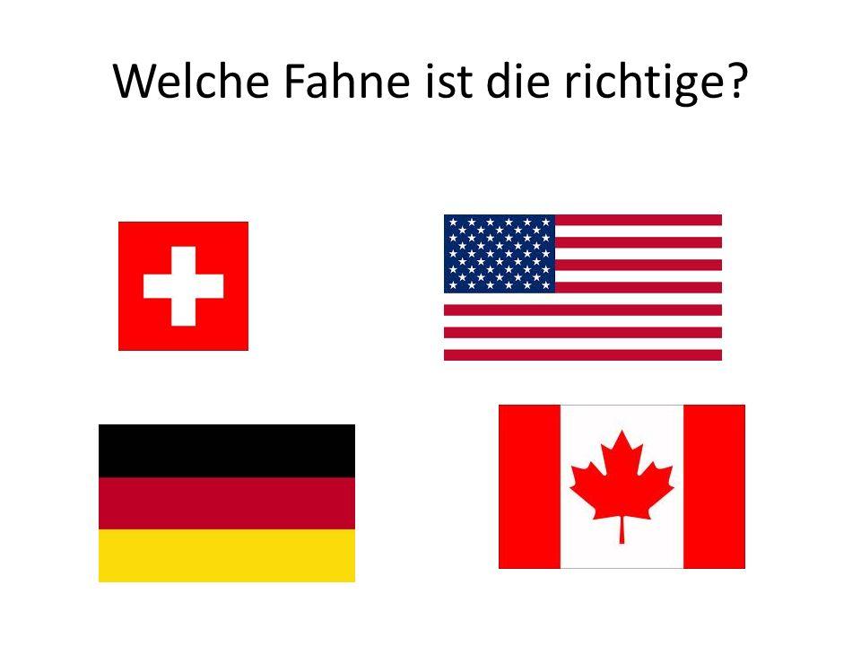 Welche Fahne ist die richtige?