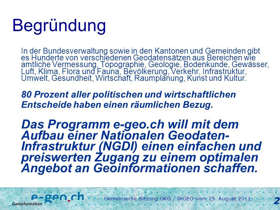 Gemeinsame Sitzung GKG / IKGEO vom 25.