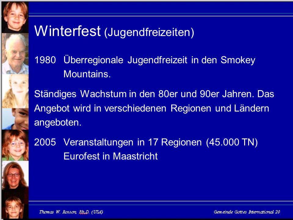 Winterfest (Jugendfreizeiten) 1980Überregionale Jugendfreizeit in den Smokey Mountains.