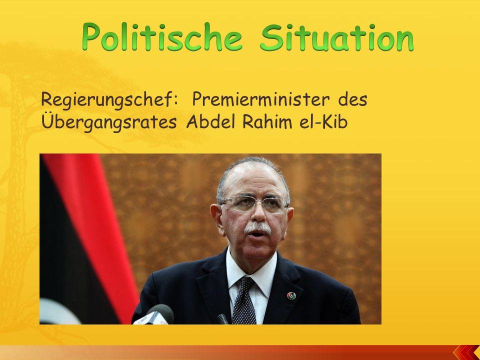 Regierungschef: Premierminister des Übergangsrates Abdel Rahim el-Kib