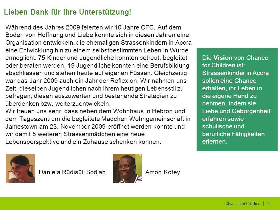   Chance for Children2 Die Pädagogische Hochschule (PH) Zürich und die Stiftung Pestalozzianum haben die Projektleiterin Daniela Rüdisüli Sodjah mit dem Bildungpreis 2009 ausgezeichnet.