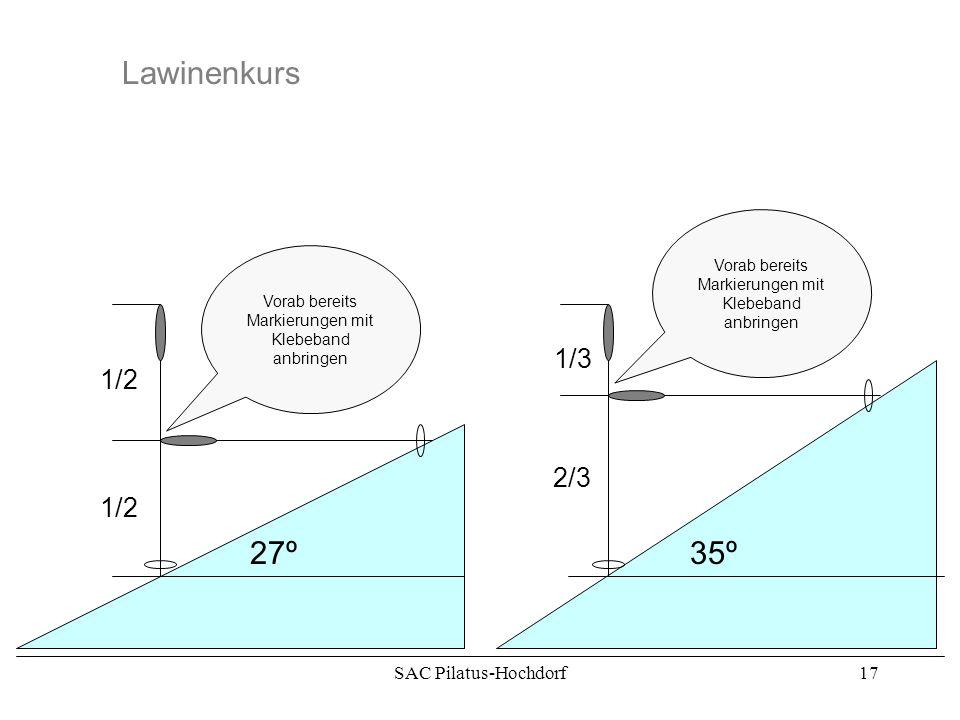 SAC Pilatus-Hochdorf16 Lawinenkurs >30º