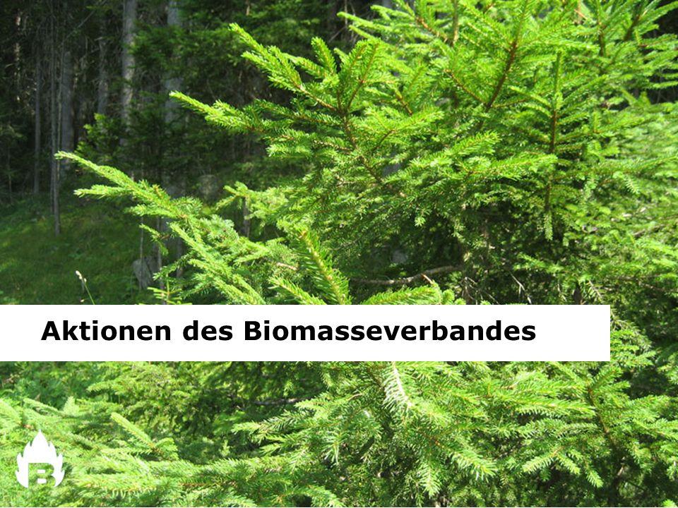 Aktionen des Biomasseverbandes