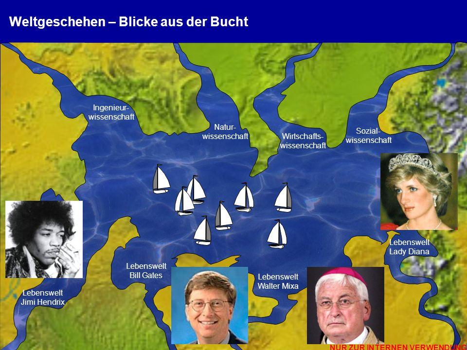 NUR ZUR INTERNEN VERWENDUNG © 2012 Prof. Dr. Peter Dürr, Hochschule München, Vortrag Nachhaltigkeit 18 Weltgeschehen – Blicke aus der Bucht Lebenswelt