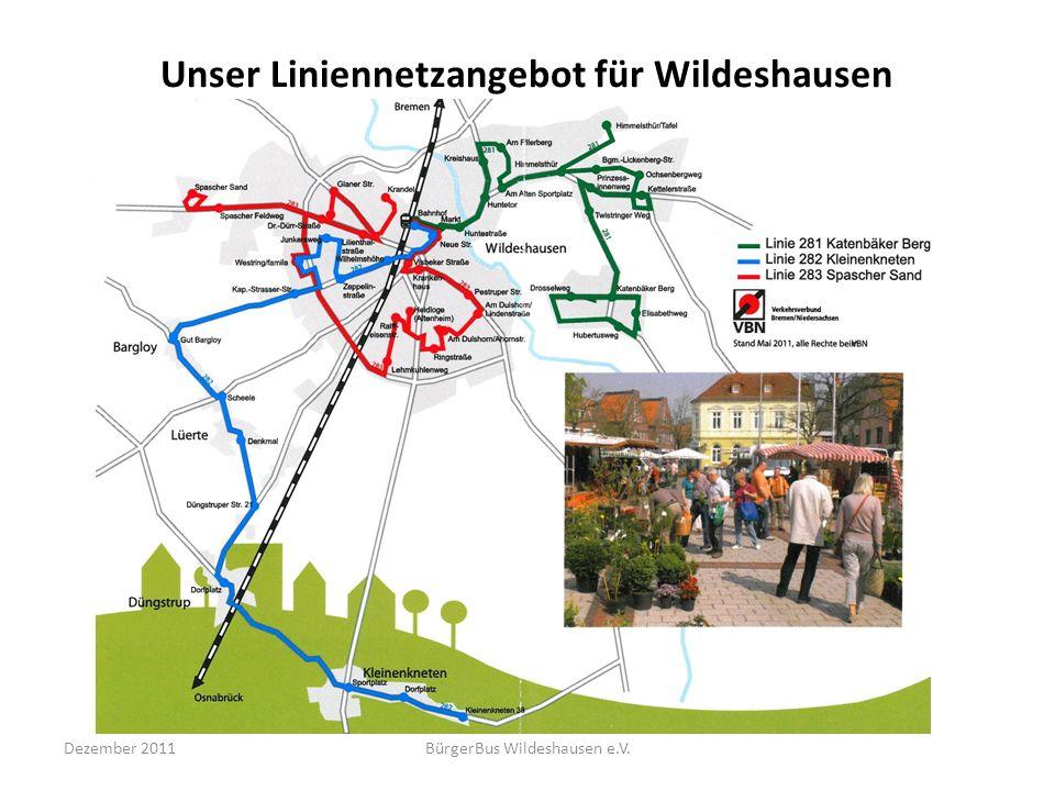 Unser Liniennetzangebot für Wildeshausen Dezember 2011BürgerBus Wildeshausen e.V.