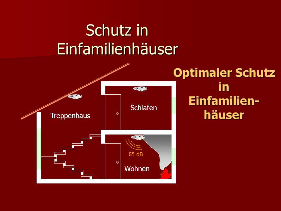Schutz in Einfamilienhäuser Treppenhaus Schlafen Wohnen 85 dB Optimaler Schutz inEinfamilien-häuser