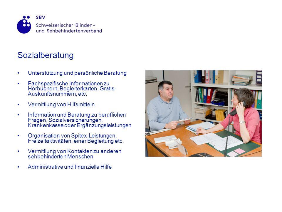 Sozialberatung Unterstützung und persönliche Beratung Fachspezifische Informationen zu Hörbüchern, Begleiterkarten, Gratis- Auskunftsnummern, etc.