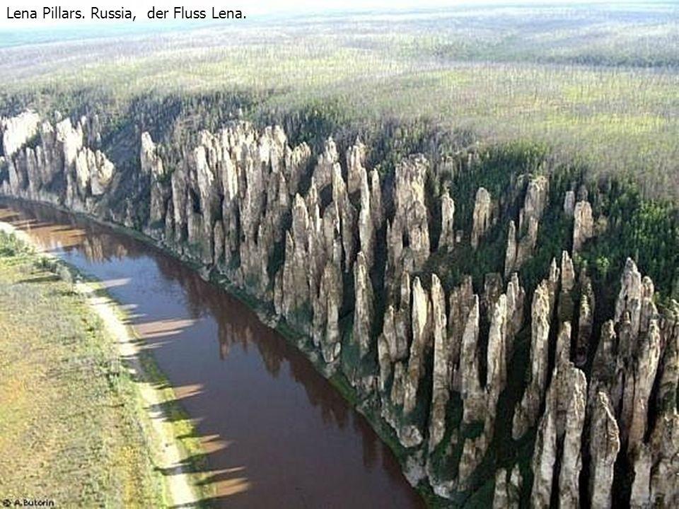 Lena Pillars. Russia, der Fluss Lena.