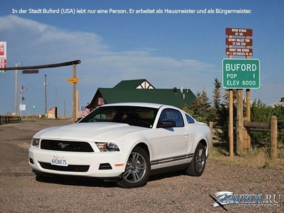 In der Stadt Buford (USA) lebt nur eine Person. Er arbeitet als Hausmeister und als Bürgermeister.
