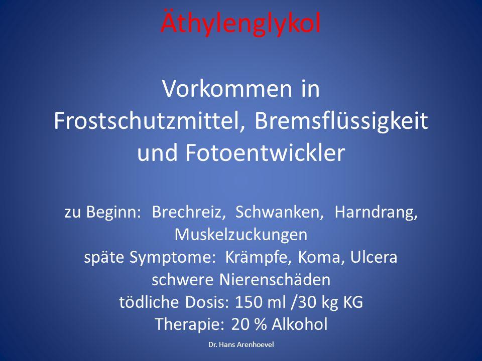 Kanister mit Frostschutzmittel Äthylenglykol Dr. Hans Arenhoevel