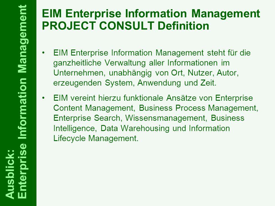 72 ELO-Fachkongress Keynote ECM Dr.Ulrich Kampffmeyer PROJECT CONSULT Unternehmensberatung Dr.
