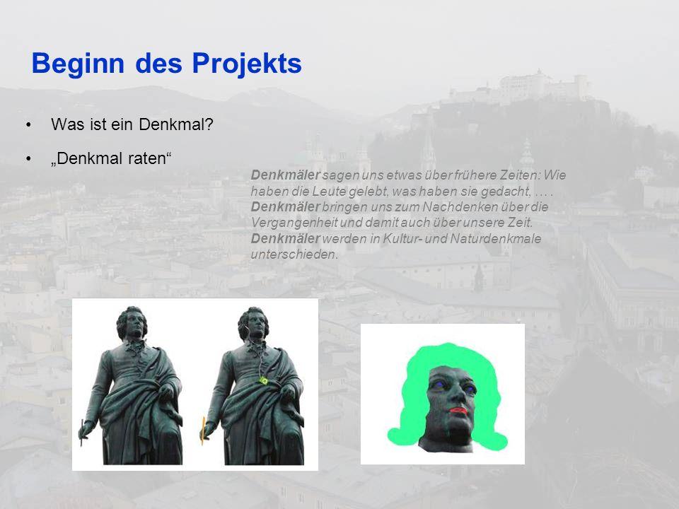 Beginn des Projekts Was ist ein Denkmal.