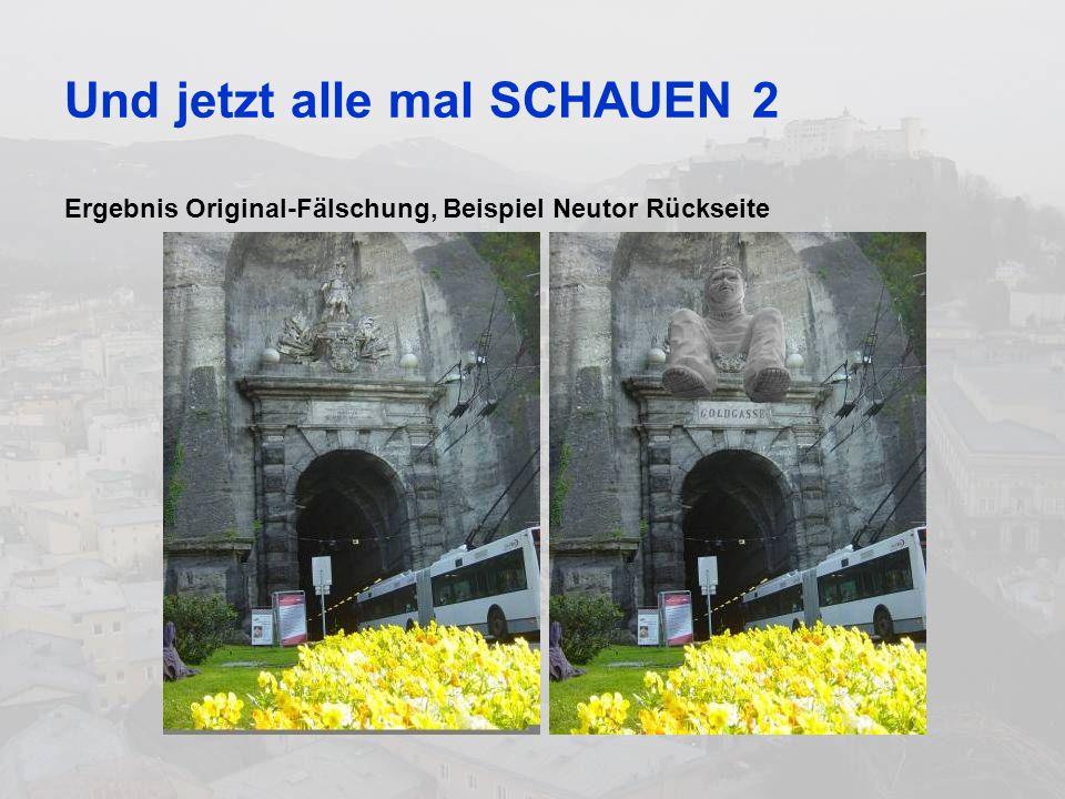 Und jetzt alle mal SCHAUEN 2 Ergebnis Original-Fälschung, Beispiel Neutor Rückseite