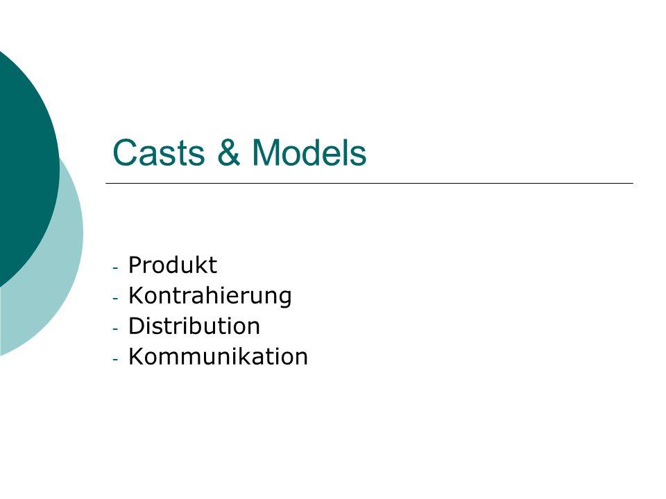 Casts & Models - Produkt - Kontrahierung - Distribution - Kommunikation