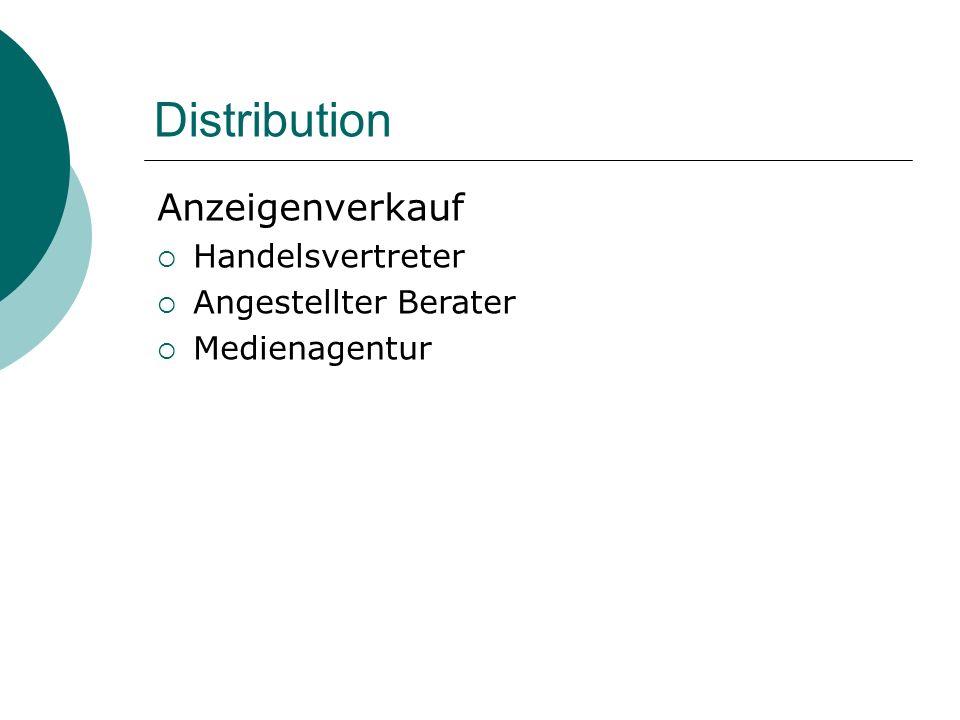 Distribution Anzeigenverkauf Handelsvertreter Angestellter Berater Medienagentur