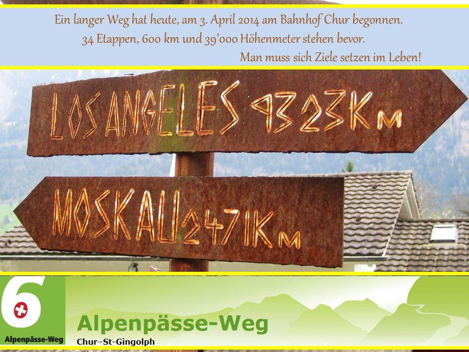 Ein langer Weg hat heute, am 3. April 2014 am Bahnhof Chur begonnen.
