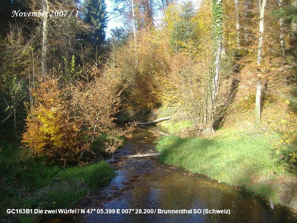 GC144VM Die Dreieinigkeit / N 47° 10.443 E 008° 04.459 / Mauensee LU (Schweiz) Oktober 2007 / 2