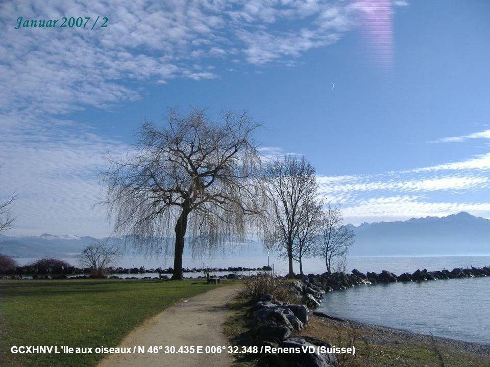 GCXHNV LIle aux oiseaux / N 46° 30.435 E 006° 32.348 / Renens VD (Suisse) Januar 2007 / 2