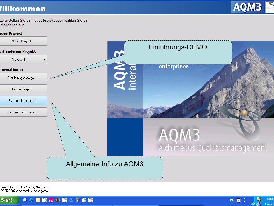 Einführungs-DEMO Allgemeine Info zu AQM3
