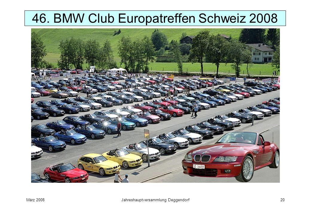März 2008Jahreshauptversammlung Deggendorf20 46. BMW Club Europatreffen Schweiz 2008