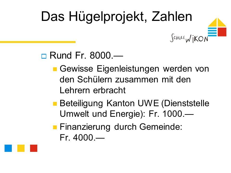 Das Hügelprojekt, Zahlen Rund Fr.8000.
