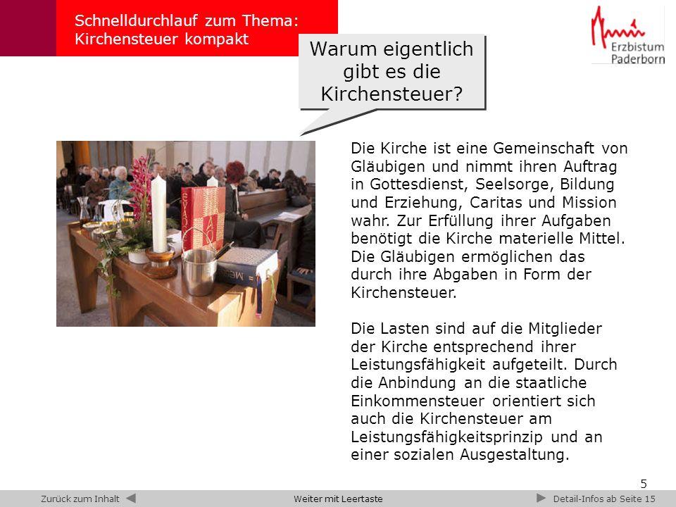 6 Schnelldurchlauf zum Thema: Kirchensteuer kompakt Katholische Kirchensteuer (Nettoaufkommen) 1995 bis 2007 im gesamten Bundesgebiet – Angaben in Mrd.