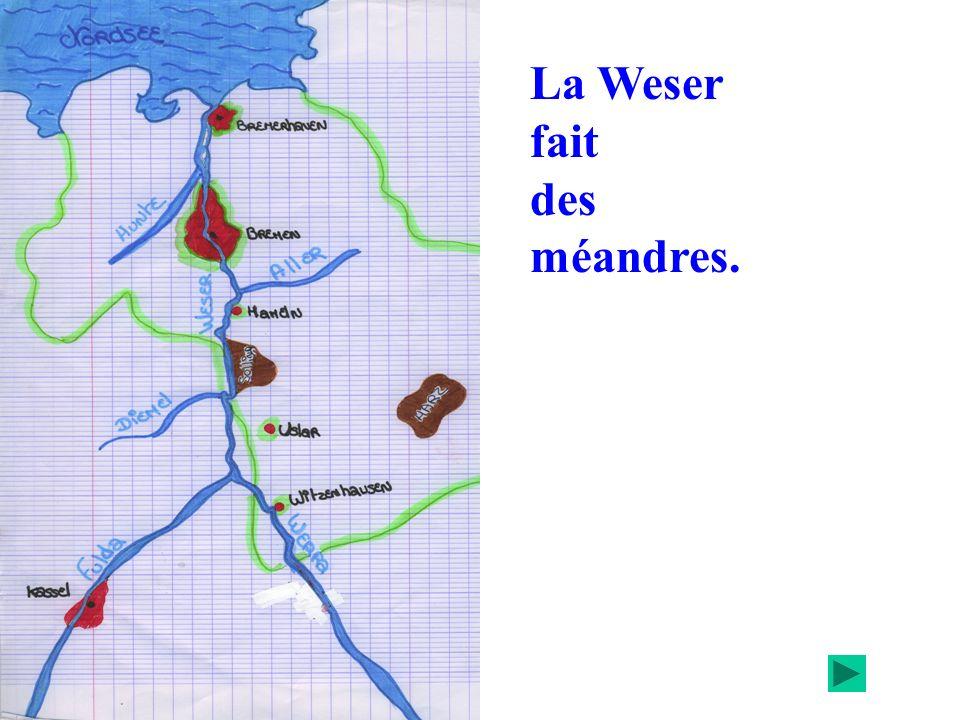 La Weser fait des méandres.