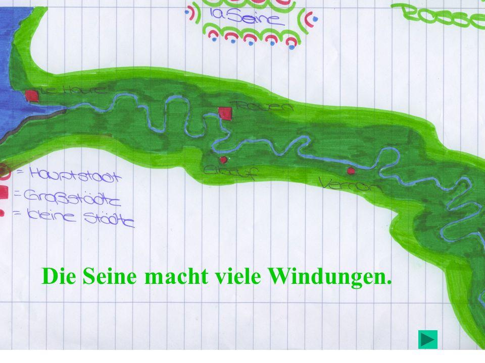 Karte des Naturschutzgebiets der Windungen der Seine in der Normandie.