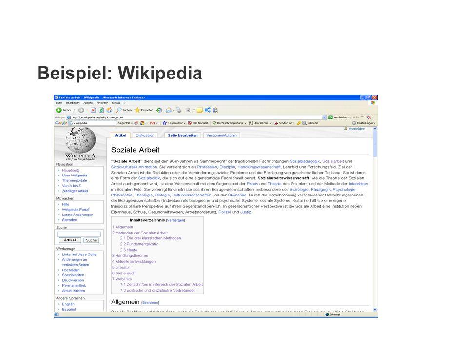 Beispiel: Wikipedia
