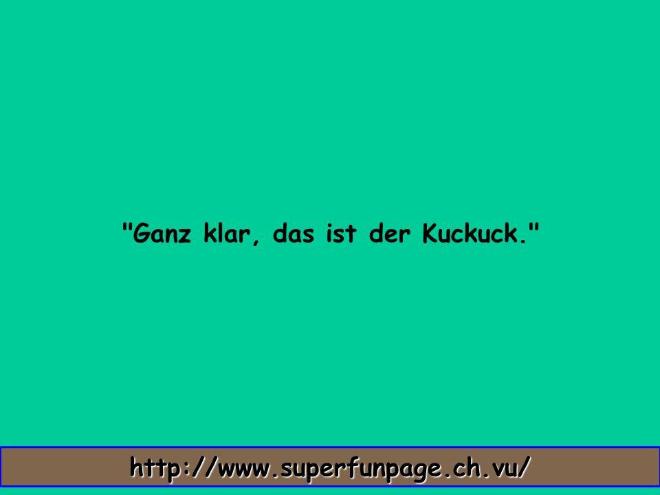 Ganz klar, das ist der Kuckuck. http://www.superfunpage.ch.vu/
