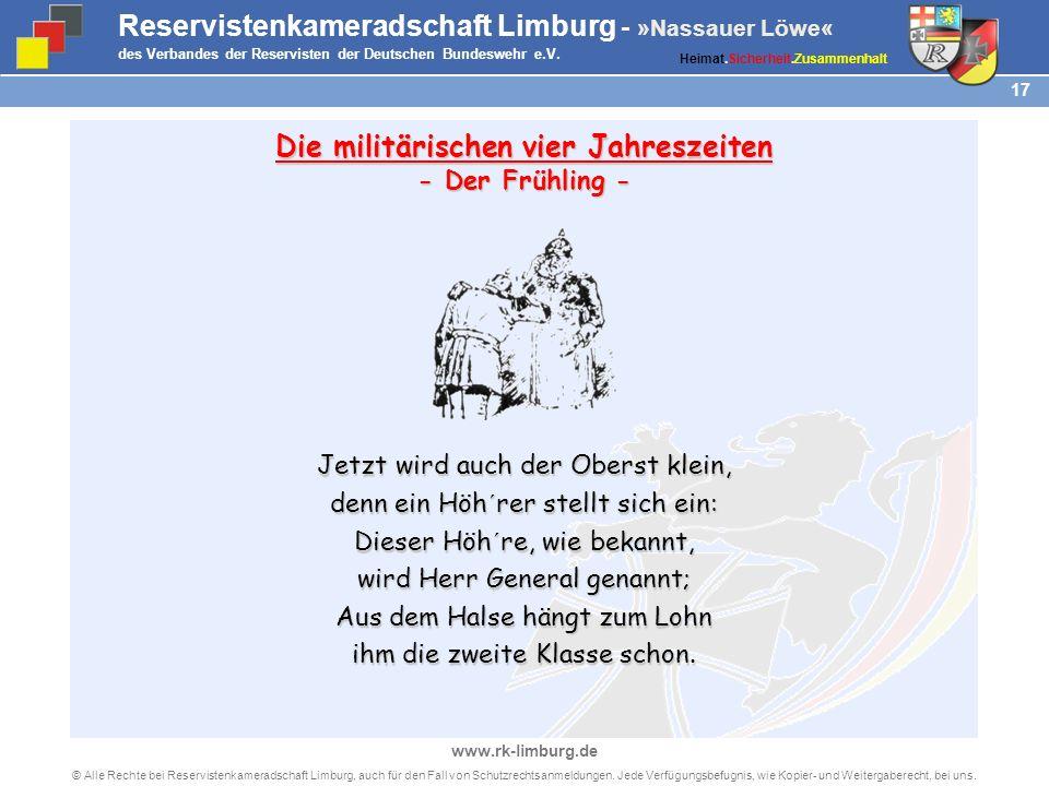 © Alle Rechte bei Reservistenkameradschaft Limburg, auch für den Fall von Schutzrechtsanmeldungen.