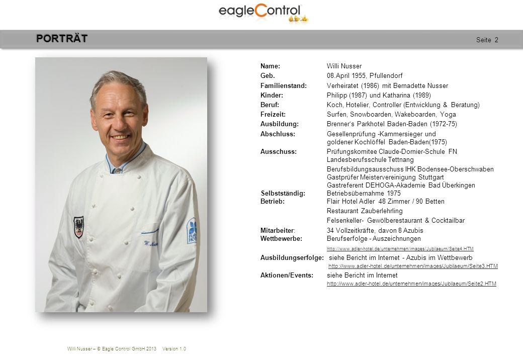 Willi Nusser – © Eagle Control GmbH 2013 Version 1.0 Seite 23Planung AGENDA