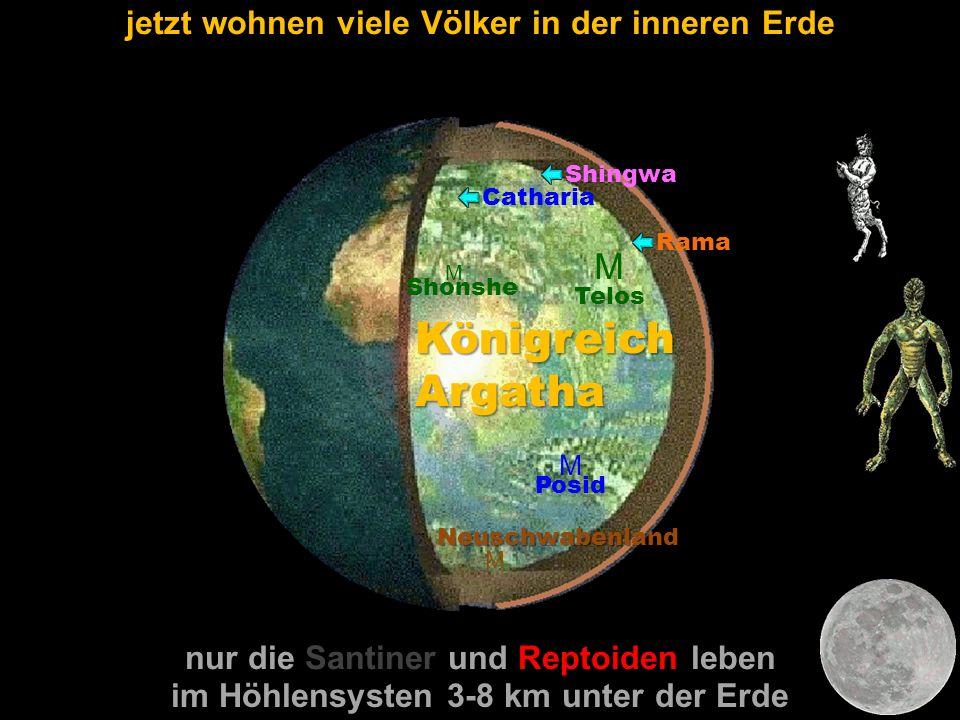 M Telos M Shonshe M Posid Catharia Shingwa Rama Königreich Argatha M Neuschwabenland jetzt wohnen viele Völker in der inneren Erde im Höhlensysten 3-8