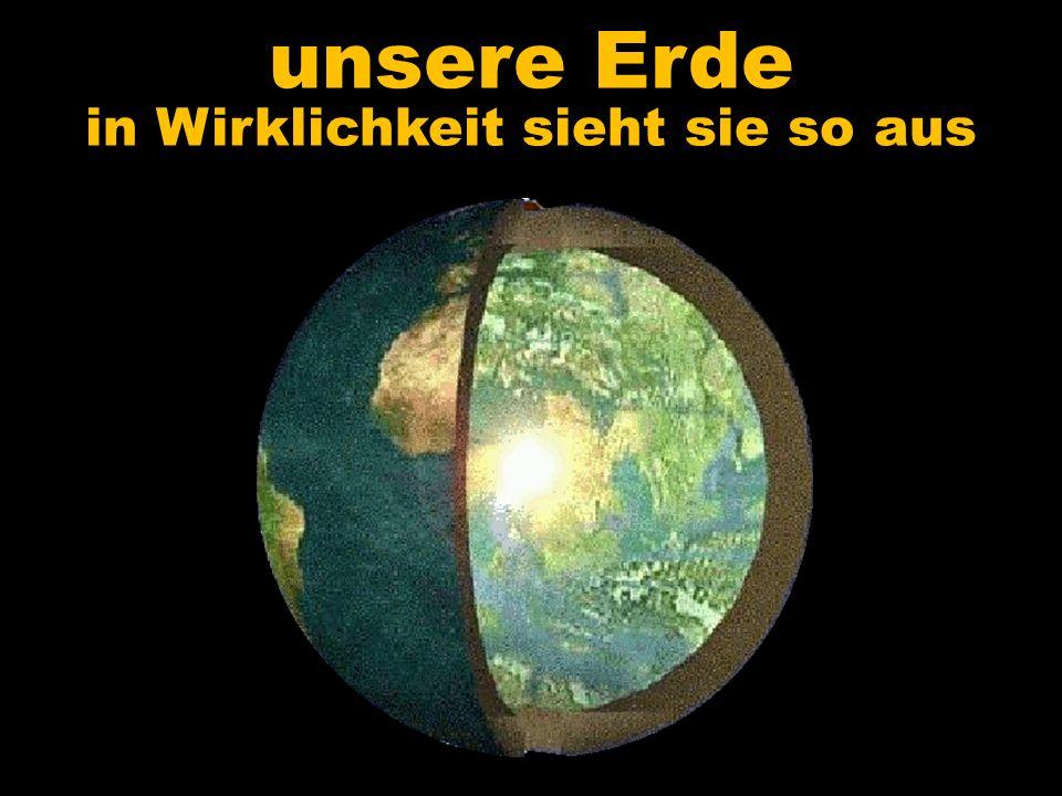 unsere Erde in Wirklichkeit sieht sie so aus