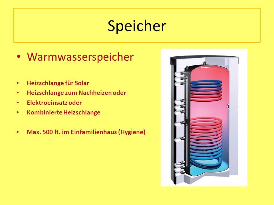 Speicher Warmwasserspeicher Heizschlange für Solar Heizschlange zum Nachheizen oder Elektroeinsatz oder Kombinierte Heizschlange Max. 500 lt. im Einfa