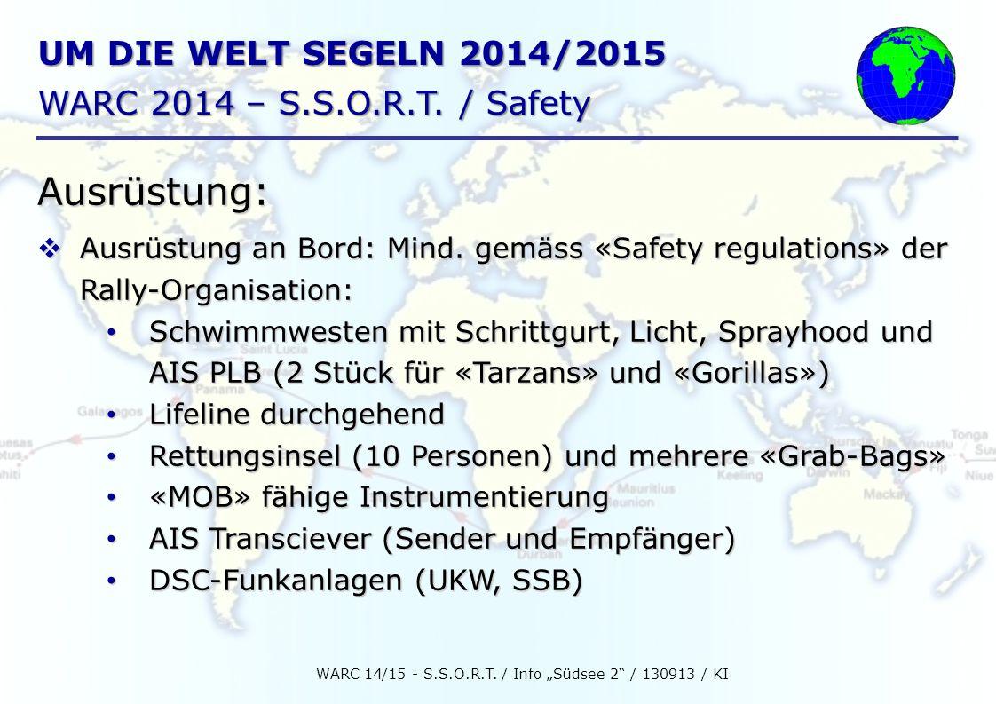 UM DIE WELT SEGELN 2014/2015 WARC 2014 – S.S.O.R.T.