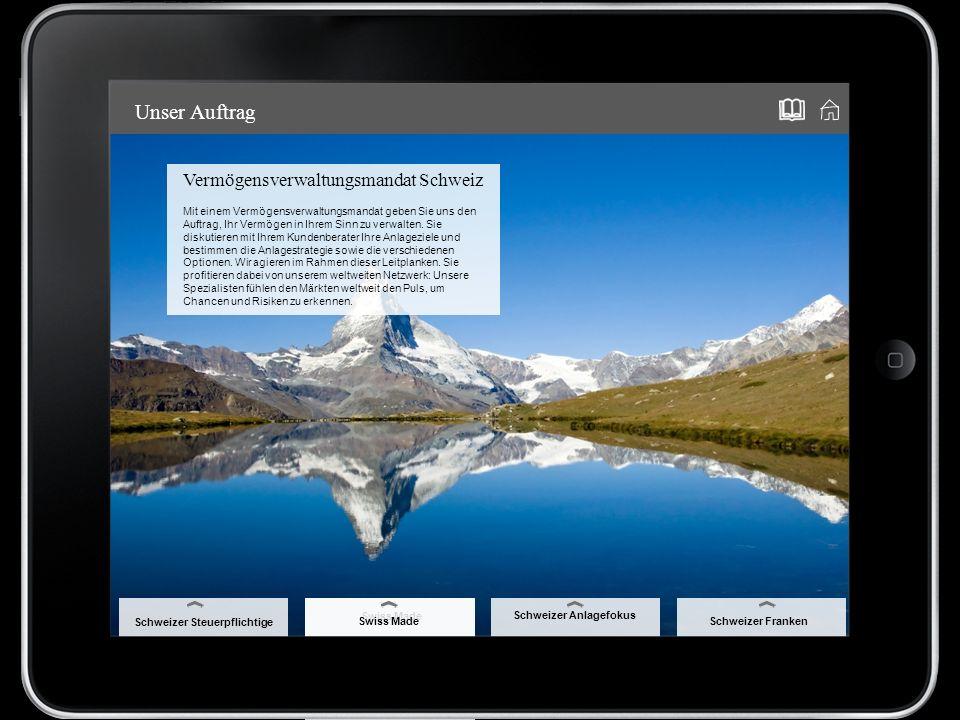 Vermögensverwaltungsmandat Schweiz Mit einem Vermögensverwaltungsmandat geben Sie uns den Auftrag, Ihr Vermögen in Ihrem Sinn zu verwalten.