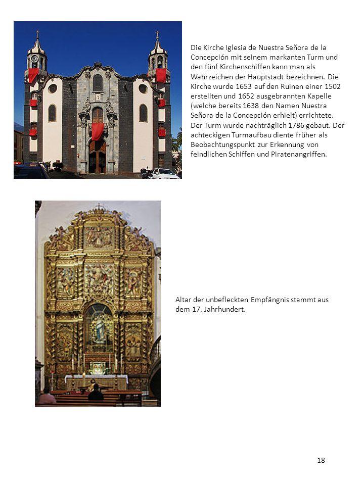 Die Kirche Iglesia de Nuestra Señora de la Concepción mit seinem markanten Turm und den fünf Kirchenschiffen kann man als Wahrzeichen der Hauptstadt b