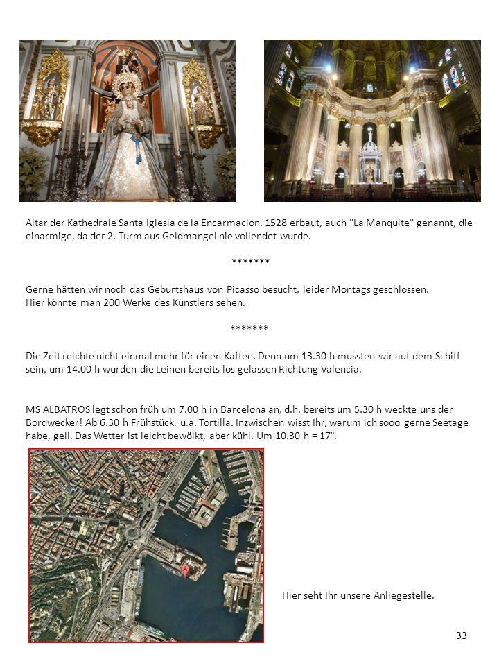 Altar der Kathedrale Santa Iglesia de la Encarmacion. 1528 erbaut, auch