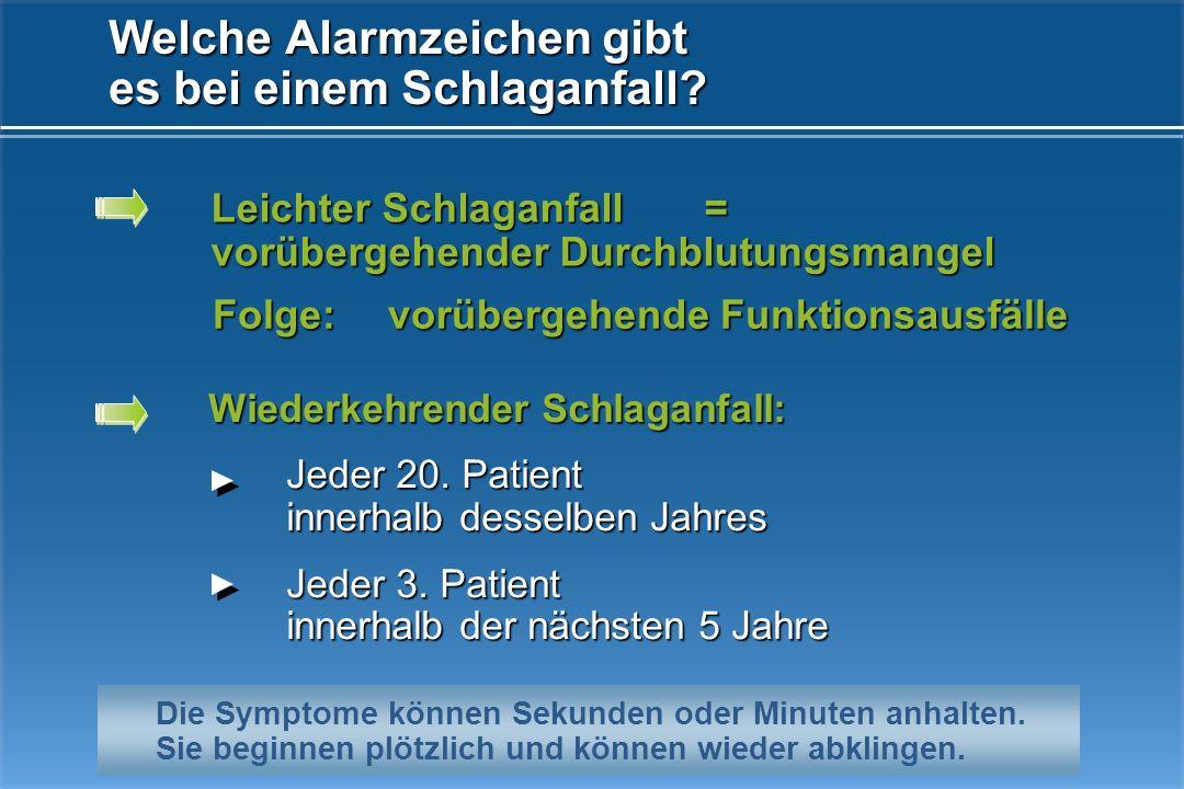 Jeder 3. Patient, z.B. benötigt einen Rollstuhl ist sprachgestört ist hilfsbedürftig rund um die Uhr Wie viele Menschen bleiben lebenslang behindert d