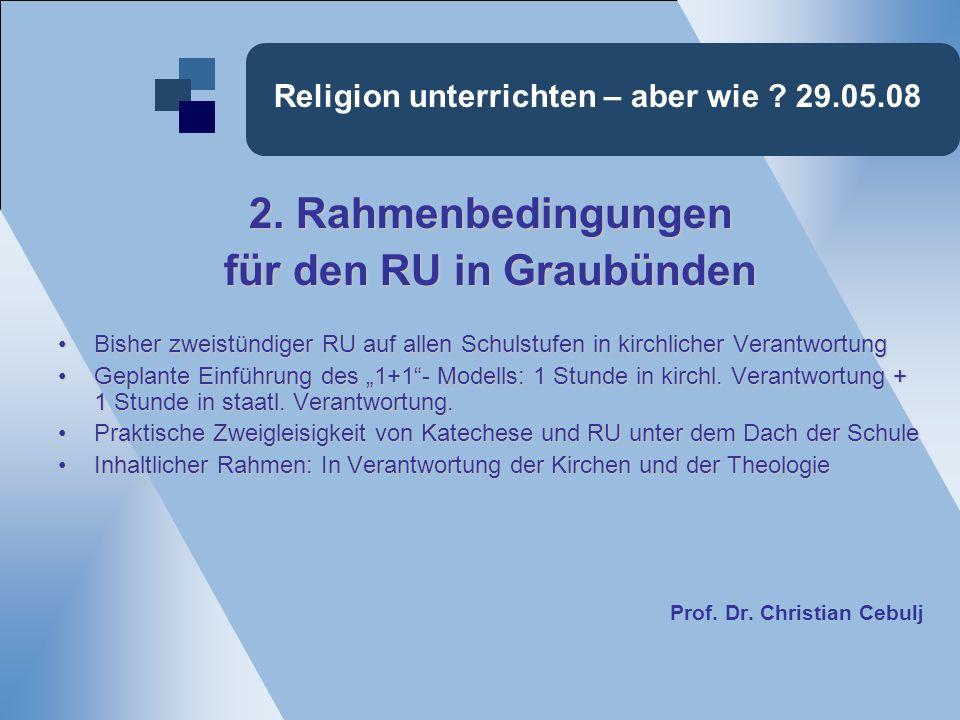 Religion unterrichten – aber wie .29.05.08 2.