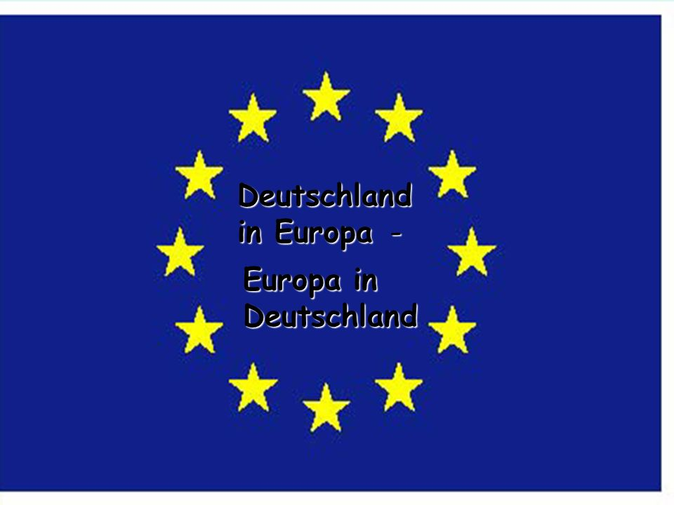 Deutschland in Europa - Europa in Deutschland You will learn: how to say different European countries in German.
