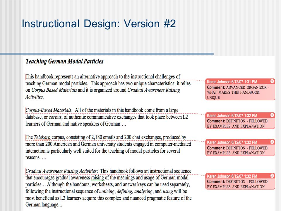 Instructional Design: Version #2