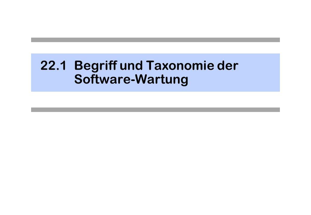 22.1Begriff und Taxonomie der Software-Wartung
