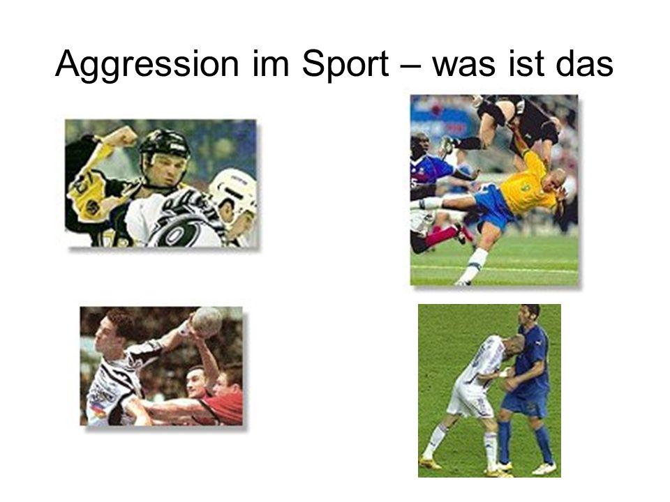Aggression im Sport – was ist das