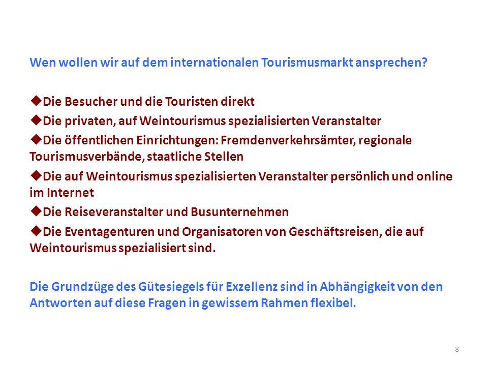 Wen wollen wir auf dem internationalen Tourismusmarkt ansprechen.