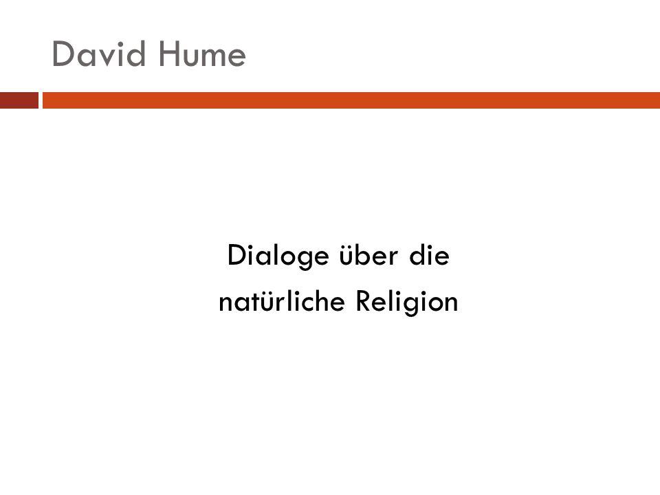 David Hume Dialoge über die natürliche Religion
