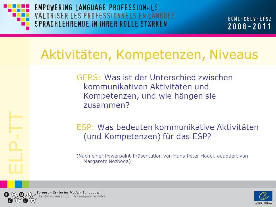 ELP-TT Grammatische Korrektheit C2 Zeigt auch bei der Verwendung komplexer Sprachmittel eine durchgehende Beherrschung der Grammatik, selbst wenn die Aufmerksamkeit anderweitig beansprucht wird (z.